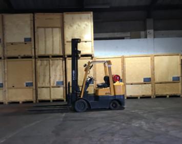 wooden heated storage